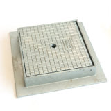 Крышка люка -лаза квадрата утюга En 124 дуктильная