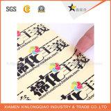 Tecido de logotipo etiquetas impressas Tecido a peça de vestuário de tamanho de etiqueta de impressão