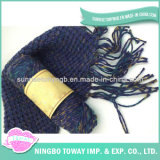 Lenço da senhora Desenhador Poliéster Crochet Garganta da forma do inverno