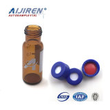 1.5ml bernsteinfarbiger Agilent Typ Glasphiolen mit Schutzkappen und Scheidewände