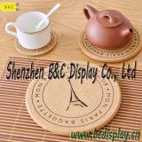Sottobicchiere del sughero assorbente indicatore luminoso, stuoia del sughero del tè, stuoia di posto con lo SGS (B&C-G112)