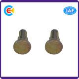 둥근 탄소 강철 연결 잠그개 또는 단추 맨 위 단계 위치를 알아내는 핀