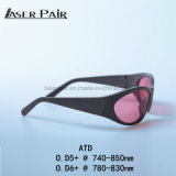 Los anteojos 2017 de seguridad más nuevos de las gafas de seguridad de laser del Ce Atd 740-850nm para el laser del diodo del Alexandrite 808nm toda la máquina del retiro del pelo de las clases para la venta