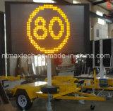 Aviso de tráfico portátil Señal de tráfico Sistema de elevación hidráulico eléctrico Fácil de operar
