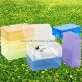 カラー透過プラスチック記憶かクラムシェルの引出しのタイプ水晶Shoebox