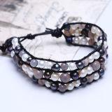 Bracelet en perles en cuir avec style nouveau fait à la main