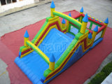 Low Price Four Colors Chaste Inflatable Slide with Climbing Wall
