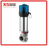 """2 """" válvula de borboleta da movimentação do ar do ar do produto comestível de aço inoxidável Ss304 Ss316L"""