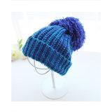 冬暖かいレディース帽子ケーブルのニット大きいPOM POMのかぎ針編みの帽子