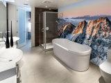 Nuevo diseño barato extraíble papel pintado impermeable para la decoración de los cuartos de baño