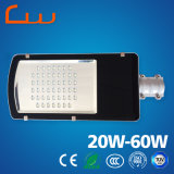屋外20W 40W 60Wの通り5年の保証LED軽いIP66