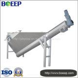 Separador de água de areia no tratamento de esgoto