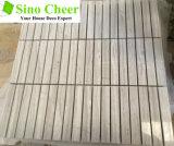 100mmx15mm штабелированная плитка мозаики мрамора камня плитки мозаики