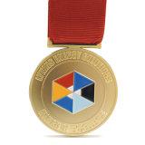 De grote Roze Medaille van de Toernooien van het Volleyball van het Lint met Sleutelkoorden