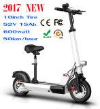 料金のスクーターの電気移動性のスクーターごとの500watt 50km