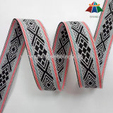 Het aangepaste Lint van de Polyester van het Embleem Jacquard Geweven Nylon voor Zakken