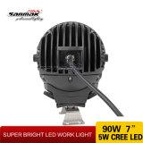 Lumière pilotante de 90W DEL de la haute énergie la plus neuve 7 '' pour outre de la route