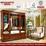 Armoire de chambre à bois à prix équitable (GSP9-003)
