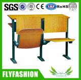 Cadeiras de madeira do quarto de leitura da faculdade dos jogos da mesa e da cadeira da sala de aula da universidade de Sf-11h