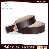 Kundenspezifische echtes Leder-Metallriemen mit Nizza Faltenbildungen