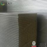 Estructura de acero del panel de emparedado de la pared de la PU Rockwool para la construcción de viviendas