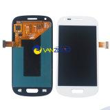 Оптовый экран касания сотового телефона запчастей для экрана касания цифрователя галактики S3 миниого I8190 LCD Samsung с рамкой