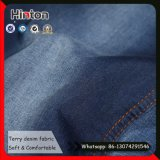 Hot Sale Indigo Color Jean Tissu élastique Terry Denim Fabric