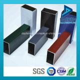 La extrusión de aluminio anodizado Perfil de recubrimiento de polvo para Tubo Cuadrado Rectángulo