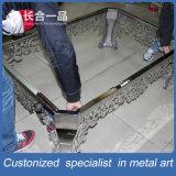 Europa diseño moderno de Staniless de acero de plata del rectángulo Tabla Mueble de casa