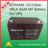 Koyama 12V100ah VRLA Batterie AGM-Mf für UPS