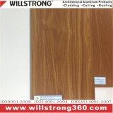 Мебель из тикового дерева цвета алюминиевых композитных панелей для монтажа на стену оболочка