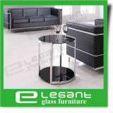 ステンレス鋼フレームの黒い緩和されたガラスの側面表
