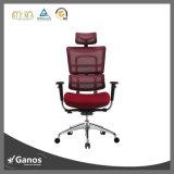 Présidence confortable de bureau de pleine maille avec le repose-pieds (Jns-802)