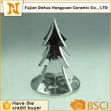 Het plateren van Ceramische Kerstboom voor Vier Houders van de Kaars