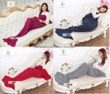 одеяло спального мешка одеяла кабеля Mermaid вязания крючком 140cm*70cm мягкое связанное