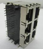 RJ45 연결관 2X3p PCB 잭 Cat5 방패 8p8c