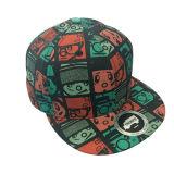 熱い販売の多彩な6つのパネルの平らな縁の帽子および帽子の製造業者