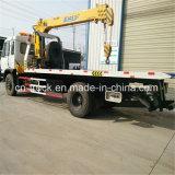 좋은 판매 Dongfeng153 8ton 기중기 6ton 평상형 트레일러 구조차 트럭