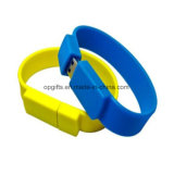 Braccialetto su ordinazione del USB del silicone dell'azionamento dell'istantaneo del USB del Wristband del silicone