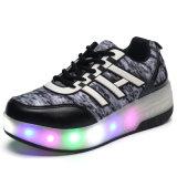 2016 Kids LED Flash Flash Roller zapatos Skate Sport Zapatillas Hot Sell alta calidad de una rueda Roller Skate Shoes de China