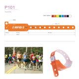 Wristband descartável do PVC da freqüência ultraelevada do estrangeiro impermeável H3 de ISO18000-6c