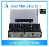Zgemma H5.2s plus Dubbele Kern Linux OS Hevc/H. 265 van de Ontvanger van de multi-Stroom de Satelliet Drievoudige Tuners dvb-s2+dvb-S2/S2X/T2/C