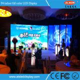 Tablilla de anuncios de interior fija a todo color de LED P4
