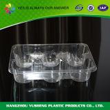 Gâteau remplaçable empaquetant le conteneur clair en plastique
