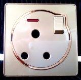Командный выключатель освещения английского стандарта для украшения золотистого круглого Поляк