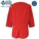 Новый Красный Long-Sleeve ослабление Rear-Zipper V-образный вырез горловины секси дамы блуза