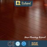 Plancher stratifié en stratifié en bois à haute brillance 12,3 mm en vinyle