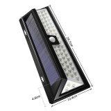 54 LED 3つのモードの太陽PIRの動きセンサーの機密保護の庭ライト