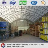 Construcción del almacén de la estructura de acero de la azotea del arco
