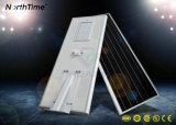 lâmpada de rua solar completa da iluminação de rua do diodo emissor de luz do painel de 70W Solarworld